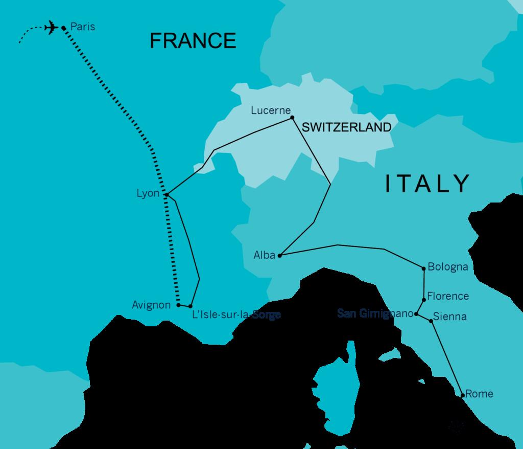 Quadrant Australia France, Switzerland and Italy Farming, Food and Wine Tour